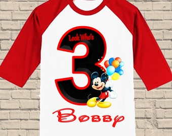 Mickey Mouse Clubhouse Birthday Shirt - Clubhouse Boys Birthday Shirt