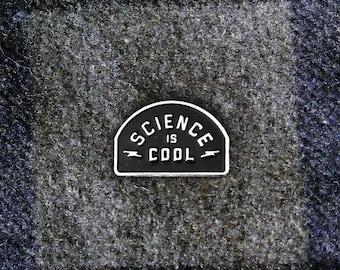 Science is Cool Enamel Pin