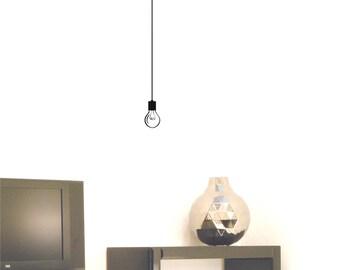 Hanging Light Bulb wall decal