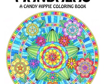 Flower Mandalas Adult Coloring Book - printable mandala coloring book for adults - 12 adult coloring pages