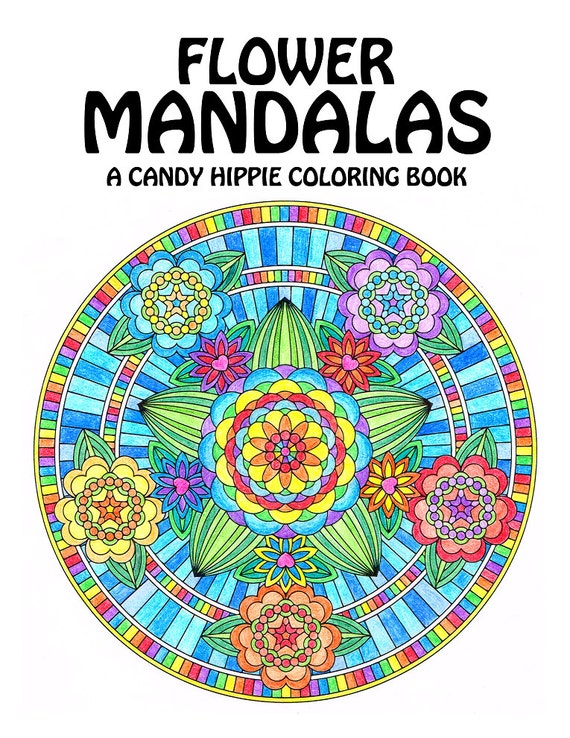 Flower Mandalas Adult Coloring Book printable mandala