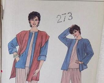 Vogue Pattern.  Mid 1980's Fashion, Unused/Uncut, Daytime Casual Attire
