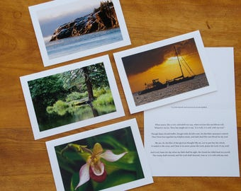 It Is Well Hymn Greeting Card with Photography for Encouragement or Sympathy