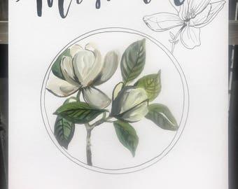 Magnolia print 11x14!