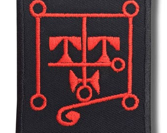 Sigil of Botis b/r - embroidered patch, 6x7 cm