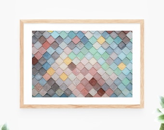 Colourful Pattern Printable Wall Art Abstract Geometric Instant Download Modern Wall Decor Contemporary Wall Art Printable Large Poster