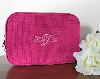 Cosmetic bags, makeup bag, make up bag, personalized bag, personalized make up, monogrammed make up bag, Brides maid cosmetic bag