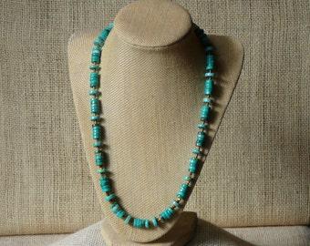 Turqouise Heshi Bead Necklace