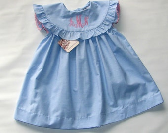 Spring Dress for Girls , Girls Birthday Dress, Monogram Dress, Personalized Dress, Summer Dress, Monogrammed Dress, Toddler Dress, 5T, 6T