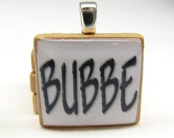 Hebrew Scrabble tile - Bubbe - Grandma or Grandmother
