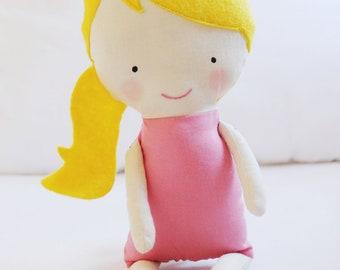 Doll Sewing Pattern Toy Cloth Doll Pattern PDF - Rosie & Lulu