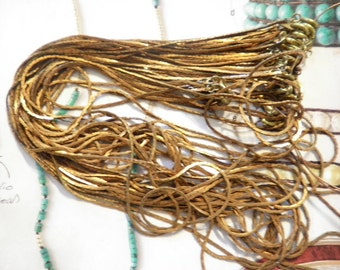 """12 Brass 24"""" Flat S Style Sara Coventry Chains"""