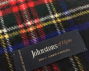 plaid muffler made in scotland 100% lambeswool shoulder wrap
