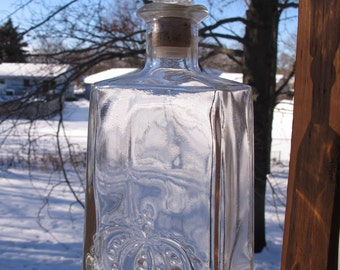 Vintage 1960s Seagram's Seven Crown Blended Whiskey Bottle