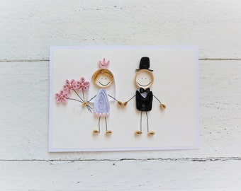 Quilled card/wedding card/Greeting card/handmade card
