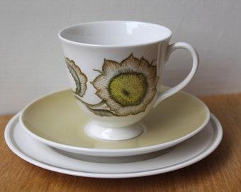Susie Cooper Sunflower tea trio - Tea cup - Afternoon Tea - Collectable