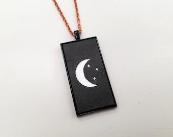 Moon & Stars Pendant Necklace