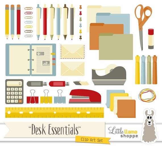 Office supplies clip art school supplies clipart desk office supplies clip art school supplies clipart desk essentials clip art commercial use pens binder tape calculator ruler voltagebd Image collections