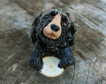 Adirondack Black Bear Pinecone Figurine