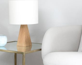 Oak Pyramid Small Table lamp.