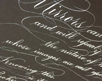 Custom Quote Calligraphy piece—9 x 12, 8.5 x 11, or A4