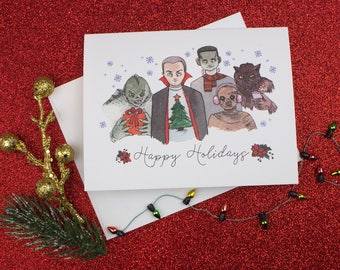 Monster Squad Gift Holiday Christmas Card