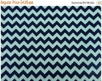 ON SALE Riley Blake Fabric - 1 Fat Quarter  Small Chevron Tone on Tone in Navy