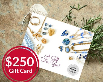 Pop and Glam Vintage Gift Card for 250 Dollars | Gift Certificate | Gift Idea | Stocking Stuffer | Mailed Gift Card