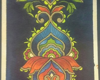 Panel style mehndi print