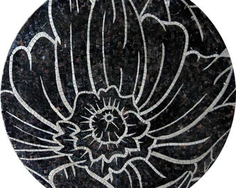 Floral  Mosaic Marble Hand Made