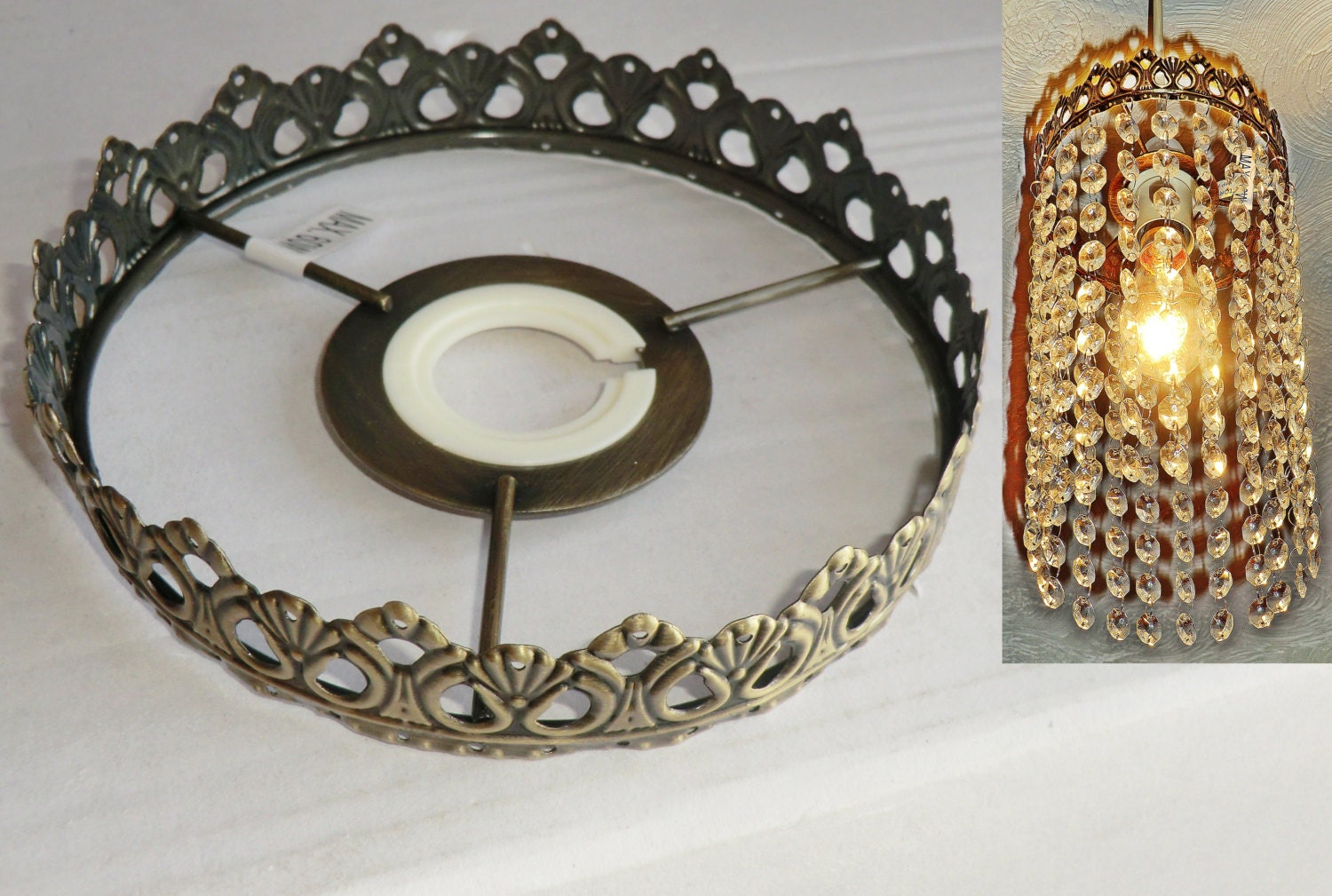 One tier chandelier metal frame no drops make your own zoom arubaitofo Images