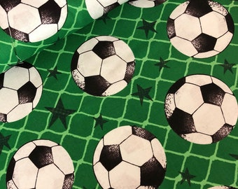 Sports fabric  - soccer fabric  - soccer ball  - football - fabric  - material - sewing -supply notion - bty - 1yard