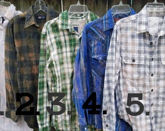 Distressed Flannels - Customize with your own state!