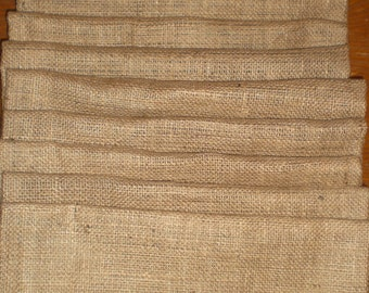 12 Burlap Garden Flags Blank, Spring SALE!, Free Shipping in USA Single Sided