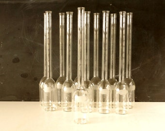 Vintage Tall Form Glass Cream Test Babcock Bottle (9 inches tall) - Love Potion Vial, Mad Science or Halloween Party Shot Glasses, Vases