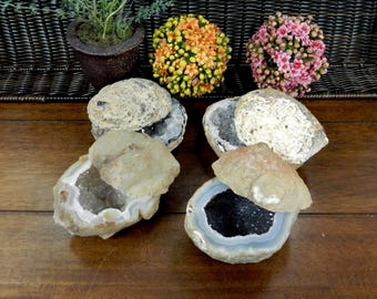Natural Geode Box  - Perfect Druzy Box - Geodes Minerals Engagement Sold By Weight (RK302)
