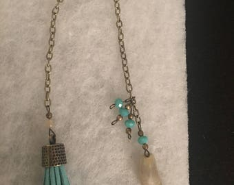 Teal tassel bookmark