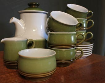 Vintage Denby Stoneware Tea Set c.1970 & Denby   Etsy