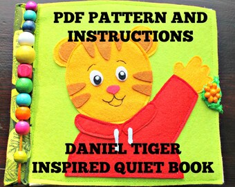 Quiet book pattern and instructions, Daniel Tiger inspired , complete book, cover and 7 activity pages #4