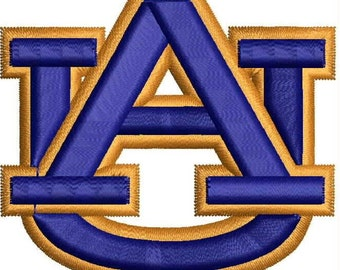 Sale 25% ( was 6.00 USD )Auburn Tigers 3D Puffy Logo Machine Embroidery Design 2 Sizes