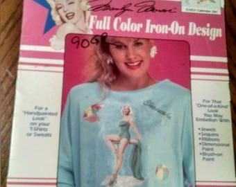 Vintage 1990 Marilyn Monroe  Iron on transfer