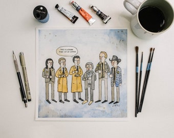 Twin Peaks This is a Damn Fine Cup of Coffee Watercolor Print