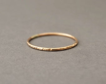 Super Thin Rings Gold Rings Gold Filled Notched Rings stacking ring knuckle ring pinky ring jewellery australia