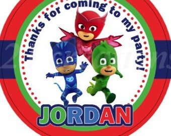 PJ Masks Personalized Stickers