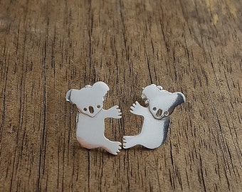 koala ear studs in sterling silver