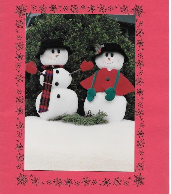 Primitive Snow Couple, Sewing Pattern, Snowman, Snowman with Vest ...