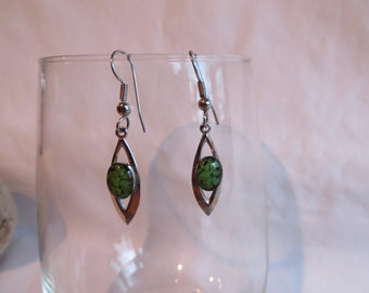 Green Beauty Dangles, Earrings, Dangle, Green