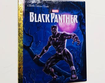 Black Panther Marvel Avengers Repurposed Little Golden Book Planner/Sketchbook/Journal/Autograph Book/notebook