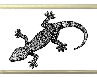 Gecko Fridge Magnet 7cm by 4.5cm,