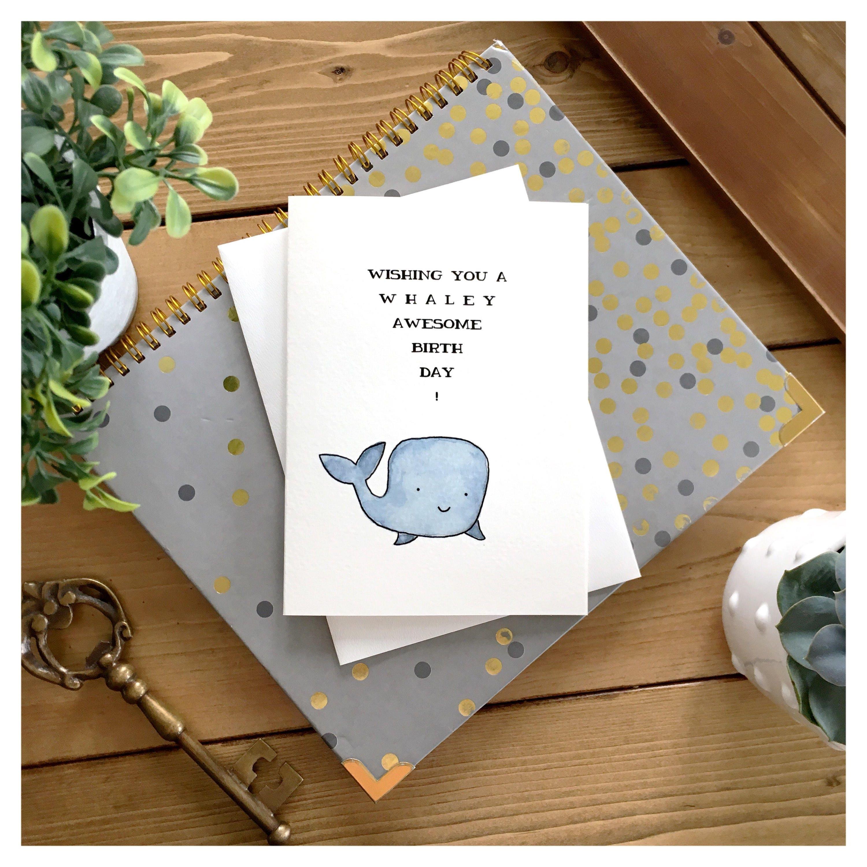 Whale birthday card cute card whale card pun card cute whale birthday card cute card whale card pun card cute birthday card funny birthday card birthday card greeting card whale punny bookmarktalkfo Choice Image